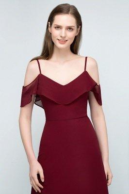 JULIANA | A-line Spaghetti Off-shoulder V-neck Long Chiffon Prom Dresses_12