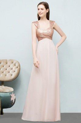 A-line  Sequins Straps Sweetheart Sleeveless Floor-Length Bridesmaid Dresses_3