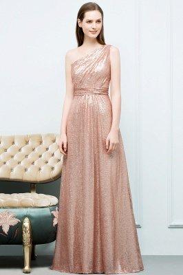 A-line One-shoulder Sleeveless Floor Length Sequins Prom Dresses_6