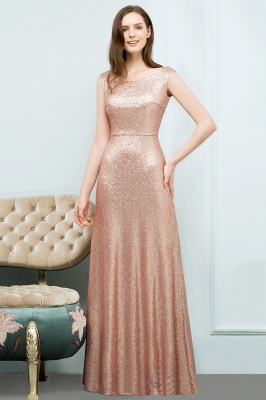 JOSELYN | A-line Floor Length Scoop Sleeveless Sequined Prom Dresses_2