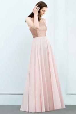 A-line  Sequined Spaghetti Straps Sleeveless Floor-Length Bridesmaid Dress_3