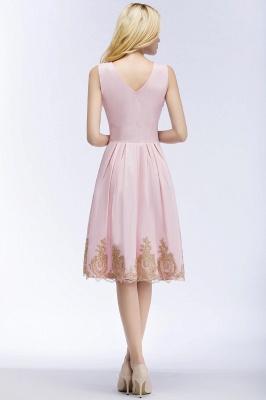 ROSEANNE   A-line V-neck Knee Length Sleeveless Appliques Homecoming Dresses_4