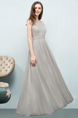 A-line Sleeveless Long Lace Top Chiffon Bridesmaid Dresses_5