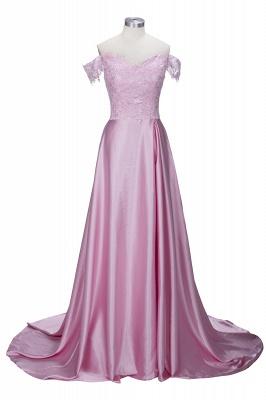 Elegant Dark Green Evening Gowns Off-the-Shoulder Side Split Prom Dresses_2