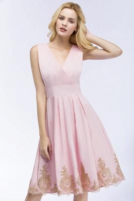 ROSEANNE   A-line V-neck Knee Length Sleeveless Appliques Homecoming Dresses_6