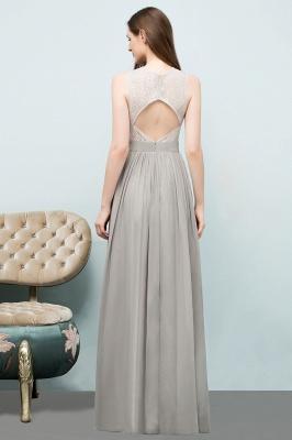 A-line Sleeveless Long Lace Top Chiffon Bridesmaid Dresses_3