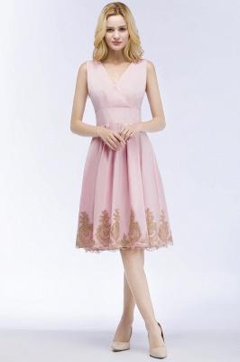 ROSEANNE   A-line V-neck Knee Length Sleeveless Appliques Homecoming Dresses_7