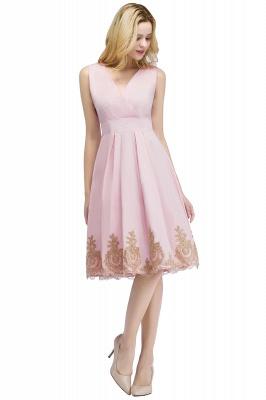 ROSEANNE   A-line V-neck Knee Length Sleeveless Appliques Homecoming Dresses_1