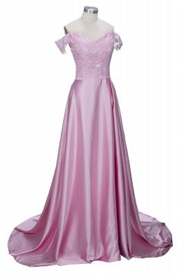Elegant Dark Green Evening Gowns Off-the-Shoulder Side Split Prom Dresses_5
