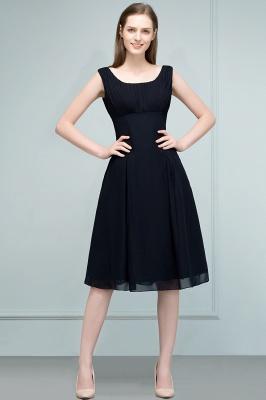 A-line Tea Length Sleeveless Ruffled Chiffon Bridesmaid Dresses_2