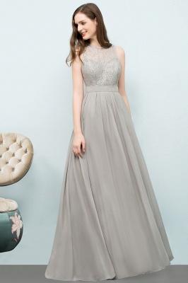 A-line Sleeveless Long Lace Top Chiffon Bridesmaid Dresses_2