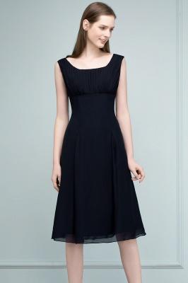 A-line Tea Length Sleeveless Ruffled Chiffon Bridesmaid Dresses_9