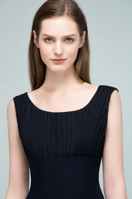 A-line Tea Length Sleeveless Ruffled Chiffon Bridesmaid Dresses_6