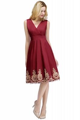 ROSEANNE   A-line V-neck Knee Length Sleeveless Appliques Homecoming Dresses_2
