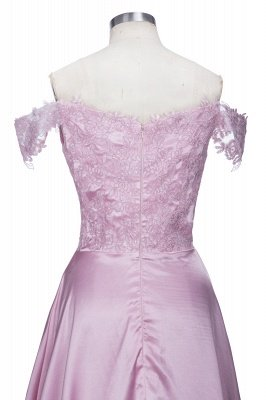 Elegant Dark Green Evening Gowns Off-the-Shoulder Side Split Prom Dresses_6
