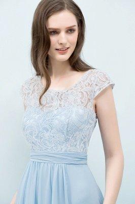 A-line  Lace Scoop Cap Sleeves Floor-Length Bridesmaid Dresses_4