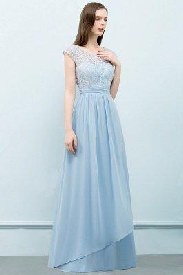 A-line  Lace Scoop Cap Sleeves Floor-Length Bridesmaid Dresses_3
