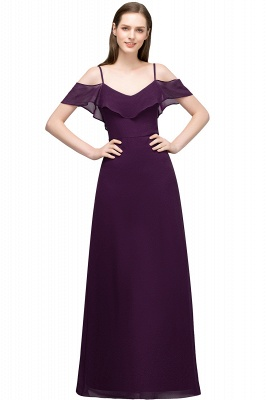 JULIANA | A-line Spaghetti Off-shoulder V-neck Long Chiffon Prom Dresses_2