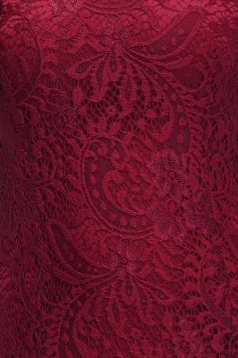 Mermaid Floor Length  Halter Lace Burgundy Bridesmaid Dresses_8