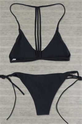 Multi-colors Strip Sexy Bikini Bathing Suit Set_2