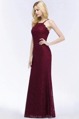 Mermaid Floor Length  Halter Lace Burgundy Bridesmaid Dresses_6