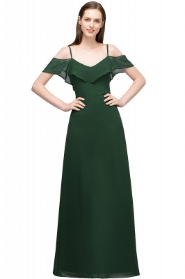 JULIANA | A-line Spaghetti Off-shoulder V-neck Long Chiffon Prom Dresses_7