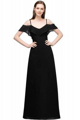 JULIANA | A-line Spaghetti Off-shoulder V-neck Long Chiffon Prom Dresses_6