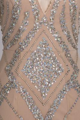 Sleeveless Crystal Beadings Gorgeous Mermaid Long V-Neck Prom Dress_3