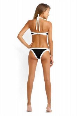 Navy Blue Cut-out Tankini swimwear suits_6