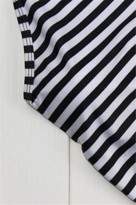 Patterned Halter Polyester Sexy Bikinis Swimwear_6