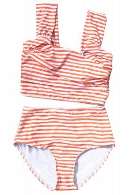 Two-pieces Printed Patterns High-waisted Sexy Bikini Set_10