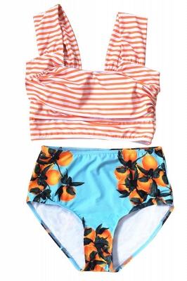 Two-pieces Printed Patterns High-waisted Sexy Bikini Set_21