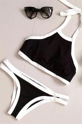 Navy Blue Cut-out Tankini swimwear suits_4
