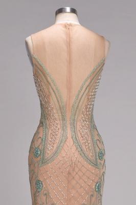 Glamorous Beadings Split Sleeveless Scoop Mermaid Prom Dress_6