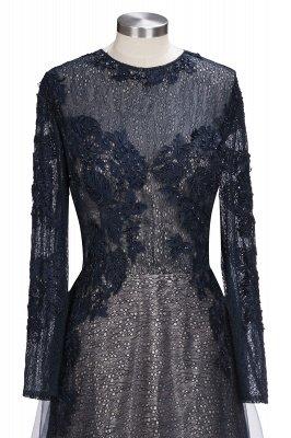 Black Scoop Long-sleeve Modern Lace-Appliques Evening Dress_7