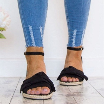 Ankle Strap Flats Lace Up Shoes Suede Espadrilles Sandals_11