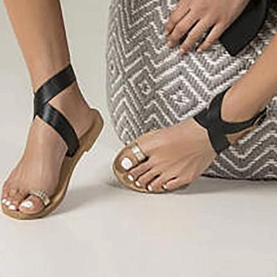 Flat Heel Buckle Open Toe Sandals_3