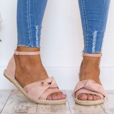 Ankle Strap Flats Lace Up Shoes Suede Espadrilles Sandals_10