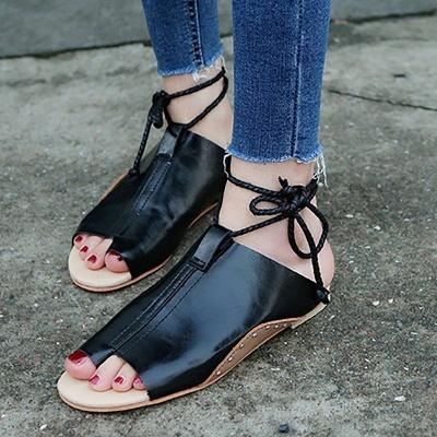 Braided Strap Daily Flat Heel Sandals_3