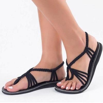 Summer Braided Daily Flip-flops Sandals_8