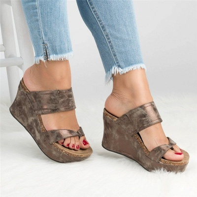 Large Size Slip On Thong Wedge Wedge Sandals_5