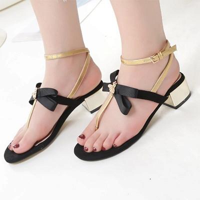 Buckle Bowknot Flip-flops Sandals_10