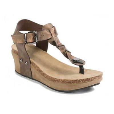 Summer Daily PU Braided Strap Sandal_1