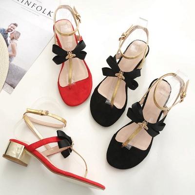 Buckle Bowknot Flip-flops Sandals_7