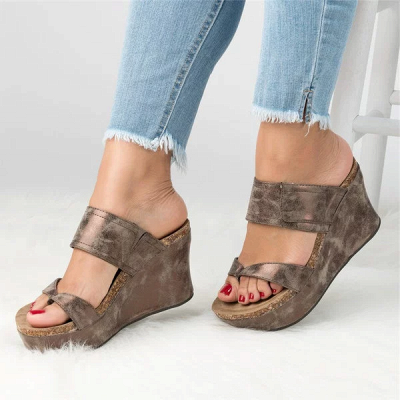 Large Size Slip On Thong Wedge Wedge Sandals_11