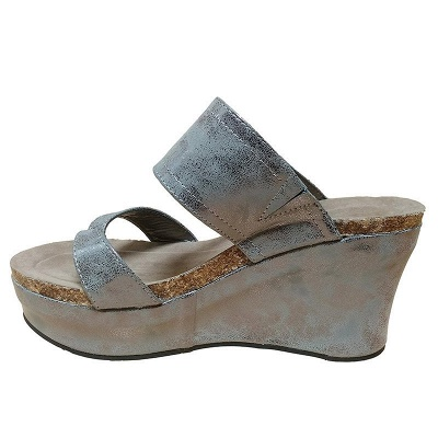 Large Size Slip On Thong Wedge Wedge Sandals_10