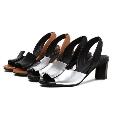 Daily Peep Toe Chunky Sandals_5