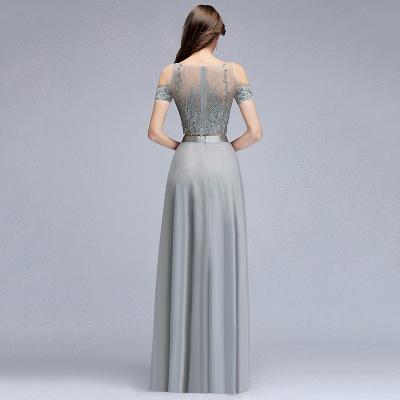 Appliques Two-Pieces Silver Exquisite A-Line Chiffon Bridesmaid Dresses_2