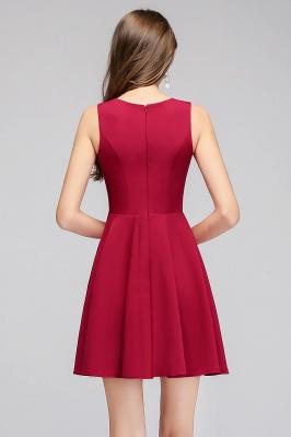 Cheap A-line Sleeveless Short V-neck Tulle Neckline Homecoming Dress in Stock_3
