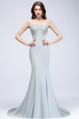 Elegant Cap-Sleeves Beading Sheer-Neck Mermaid Bridesmaid Dresses_1